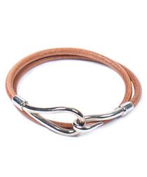 Jumbo Double Tour silver-tone bracelet