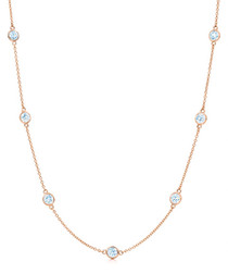 18ct rose gold-plated crystal necklace