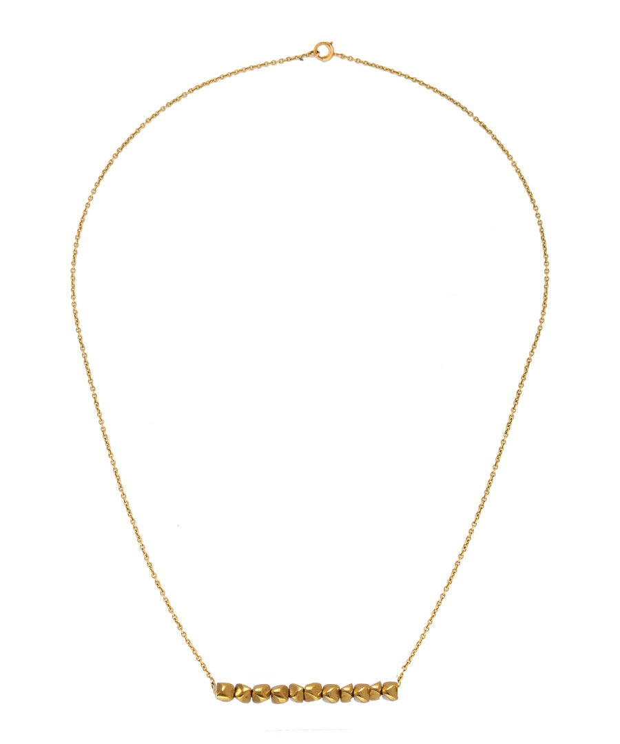 18k gold-plated bar detail necklace Sale - chloe collection by liv oliver