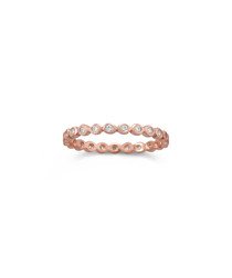 18k rose gold-plated ring
