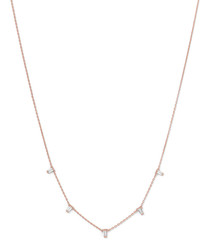 18ct rose gold-plated drape necklace