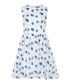 Blue floral printed organza detail dress Sale - zibi london Sale