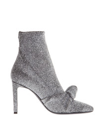 Natalie silver-tone ankle boots