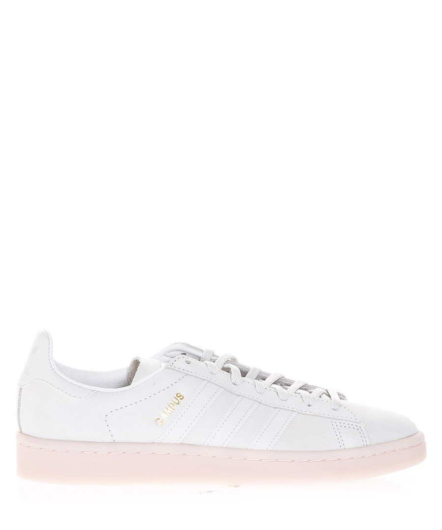hot sales a9c27 6eaee Mens Campus white leather sneakers Sale - ADIDAS ORIGINALS ...