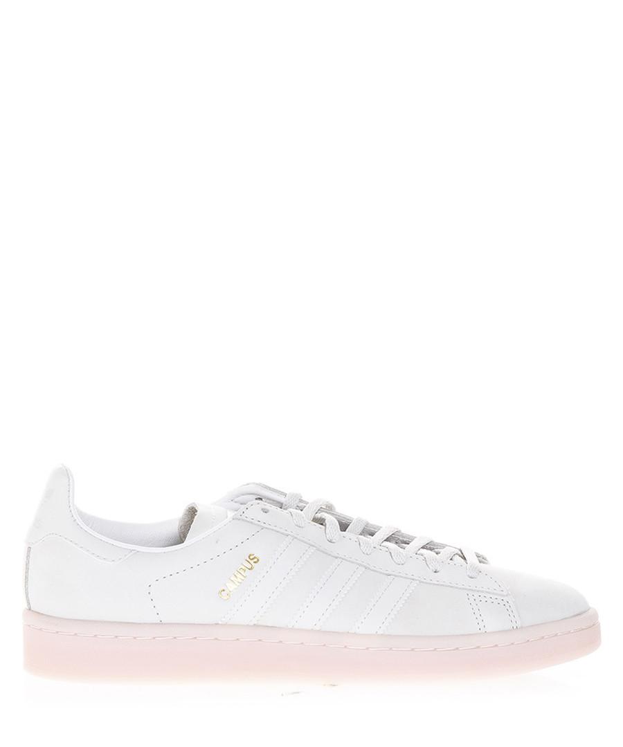 Men's Campus white leather sneakers Sale - adidas originals