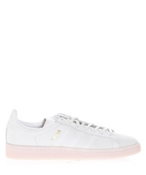 Men's Campus white leather sneakers