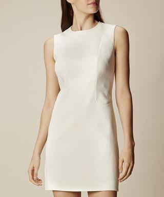 124406f17249 Ivory cotton textured fitted dress Sale - karen millen Sale