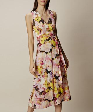 a38f946e0cf Karen Millen. Yellow floral printed culotte jumpsuit