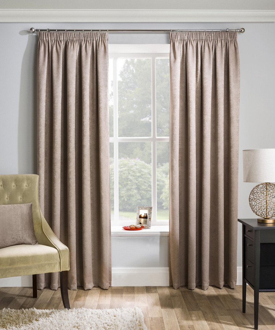 2pc Matrix latte curtains 168cm x 137cm Sale - Enhanced Living