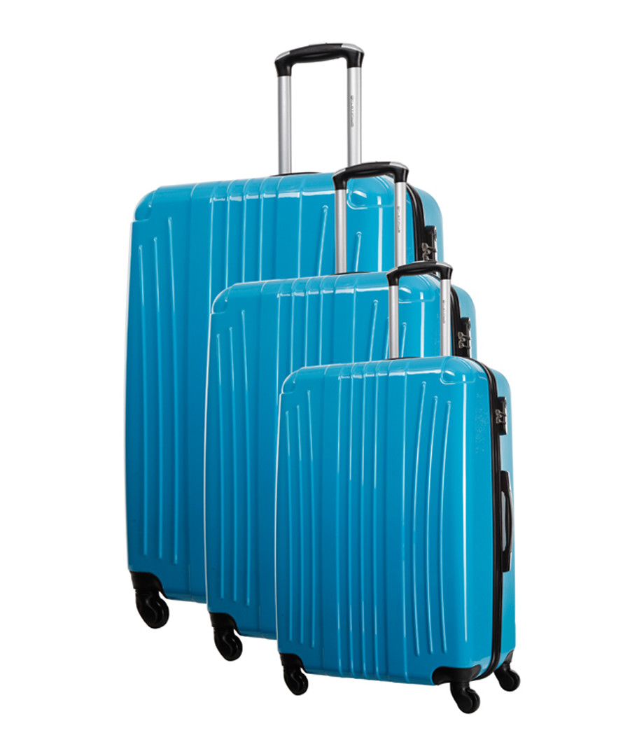 3pc Grimsby blue spinner suitcase set Sale - platinium