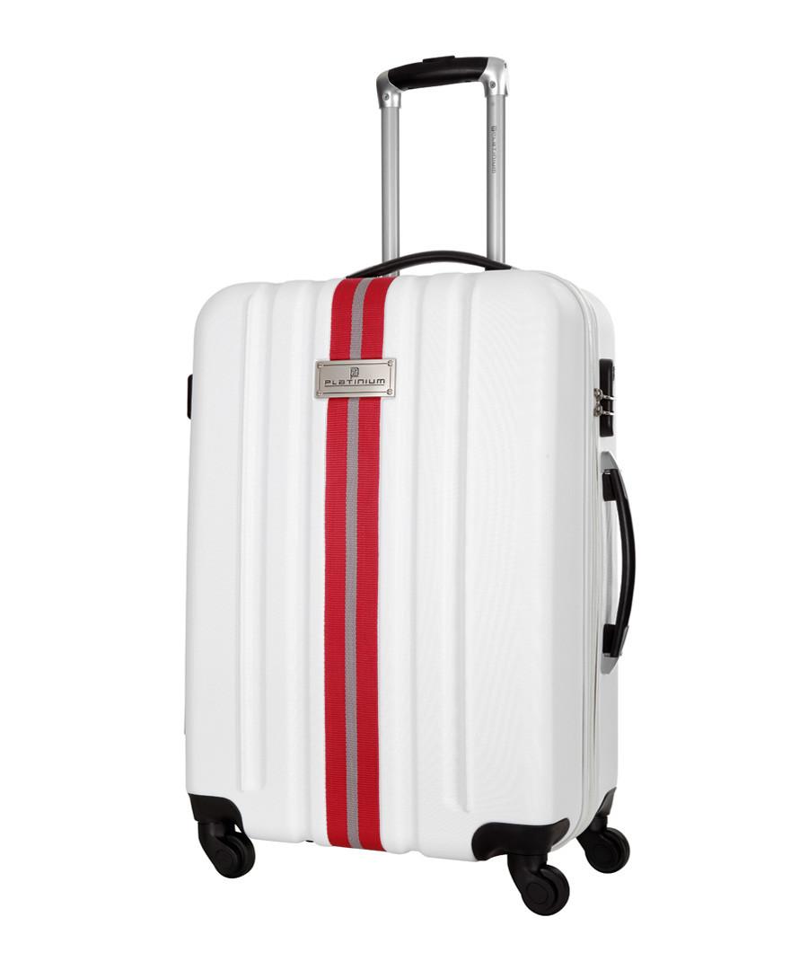 Manzana white spinner suitcase 60cm Sale - platinium