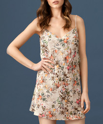 Cappuccino floral print night dress