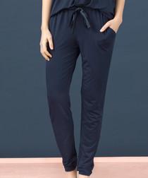 Blue tie waist pyjama trousers