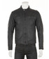 Men's Black leather perforated jacket Sale - woodland leather Sale