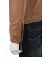 Men's Tan leather perforated jacket Sale - woodland leather Sale