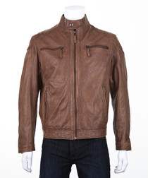 Men's Tan leather jacket