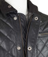 Men's black leather quilted country coat Sale - woodland leather Sale