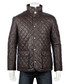 Men's Brown leather quilted country coat Sale - woodland leather Sale
