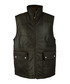 Men's Brown leather puffa gilet Sale - woodland leather Sale