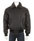 Men's Black leather waxy aviator jacket Sale - woodland leather Sale