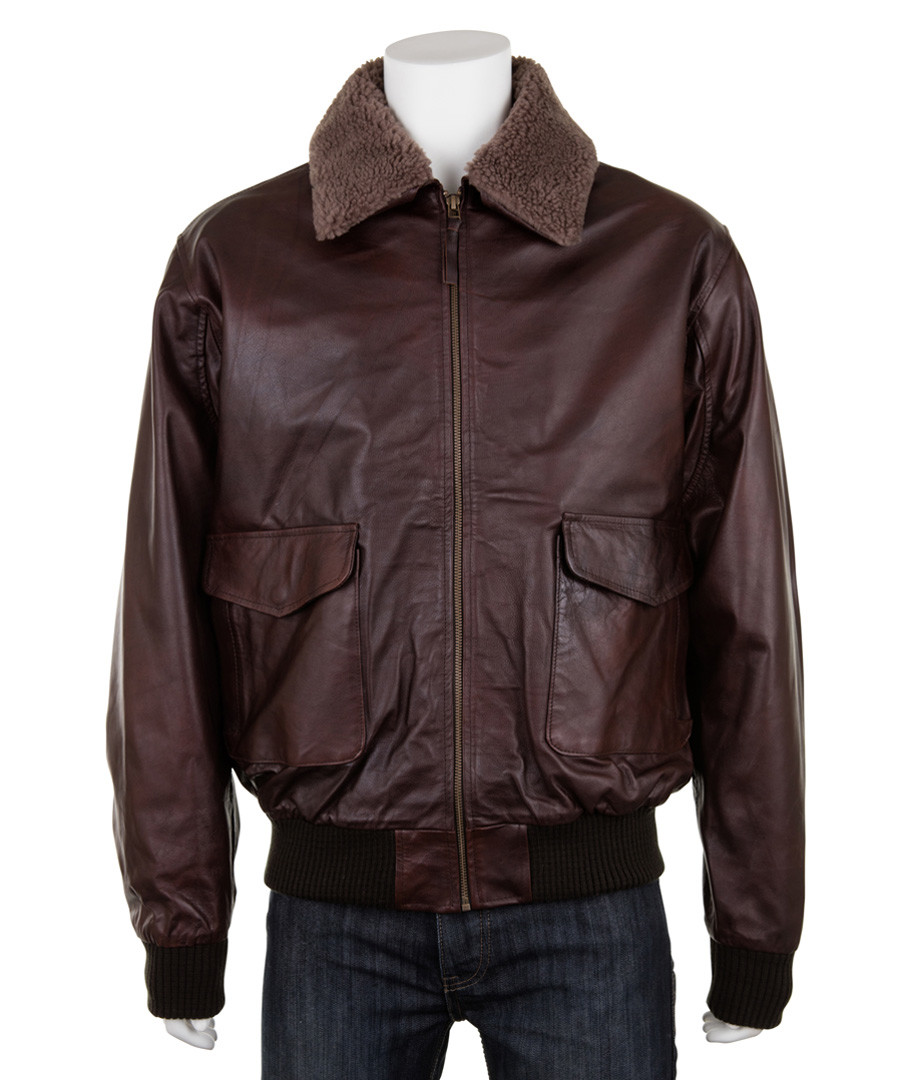 Men's Burgundy leather long sleeve jacket Sale - woodland leather