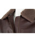 Men's Burgundy leather long sleeve jacket Sale - woodland leather Sale