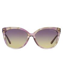 Purple floral sunglasses
