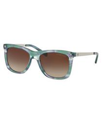 Green & blue floral sunglasses