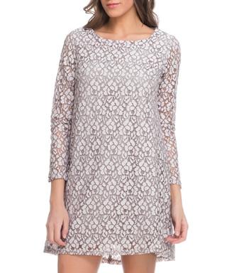 ec9142003e5 Cream cotton blend lace shift dress Sale - Tantra Sale
