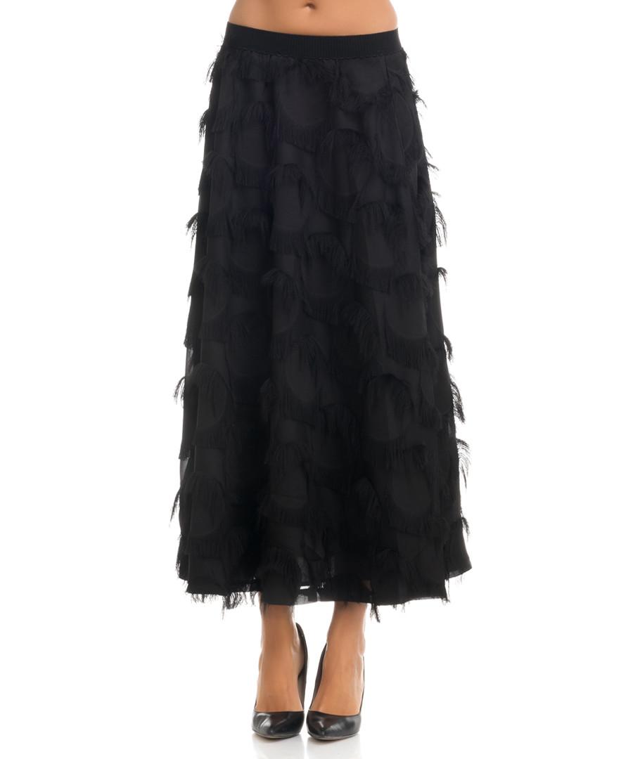 Black mesh detail maxi skirt Sale - tantra