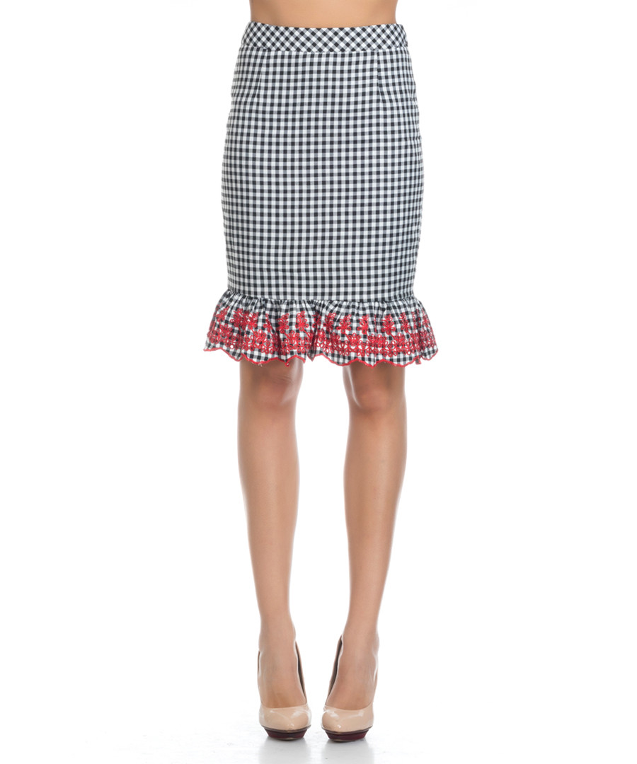 Black & white check ruffle skirt Sale - Chib by Tantra