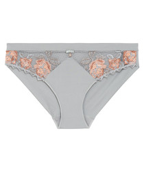 Oxygen grey & salmon briefs