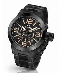 Canteen black steel watch