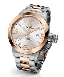 Canteen silver-tone steel watch