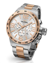 Canteen rose gold-tone steel watch