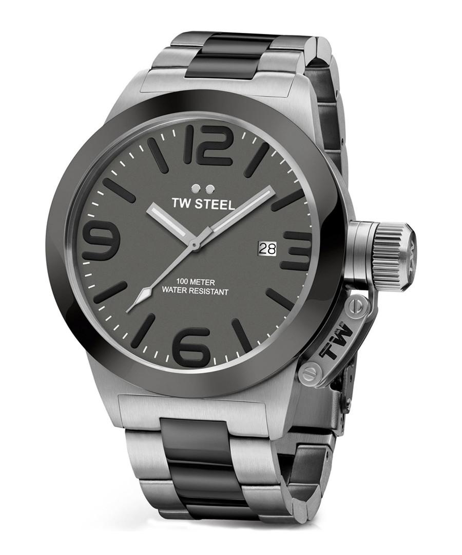 Canteen silver-tone & grey steel watch Sale - tw steel