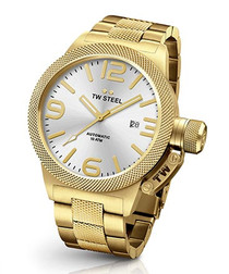 Canteen gold-tone steel watch