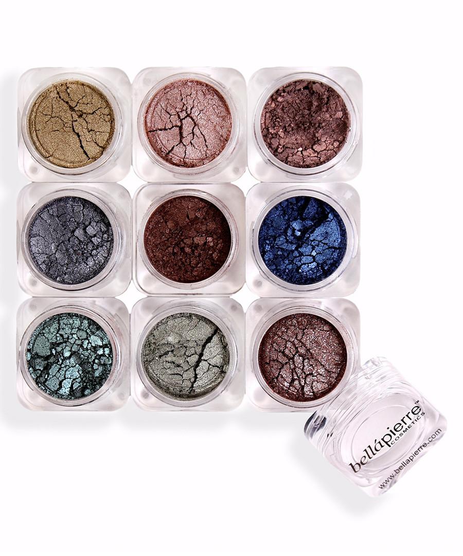 9pc mineral shimmer powder set Sale - bellapierre