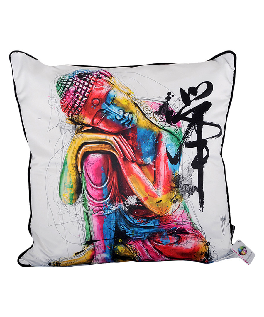 Bouddha Feng cotton blend cushion 55cm Sale - 1Wall