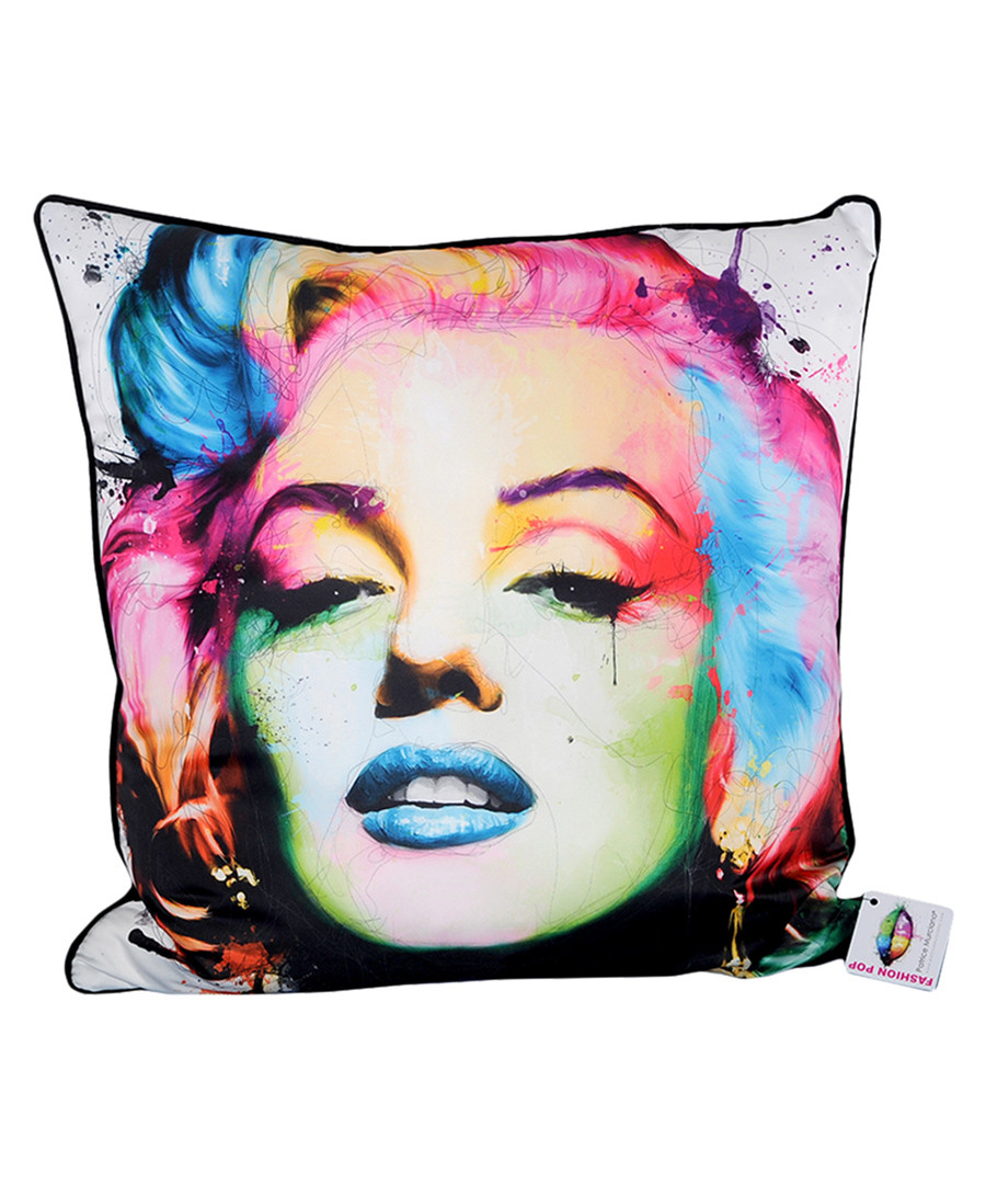 Marilyn white cotton blend cushion 55cm Sale - 1Wall