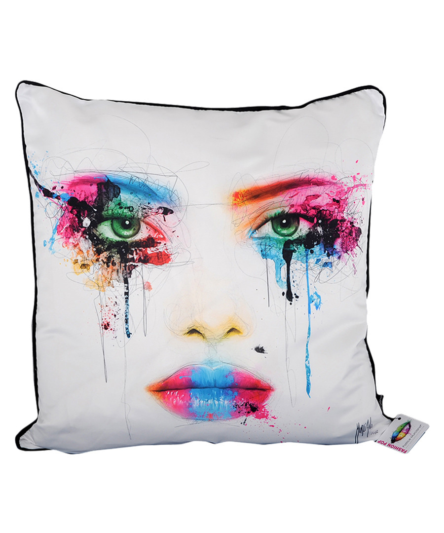 Colors white cotton blend cushion 55cm Sale - 1Wall