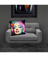Marilyn black cotton blend cushion 55cm Sale - 1Wall Sale