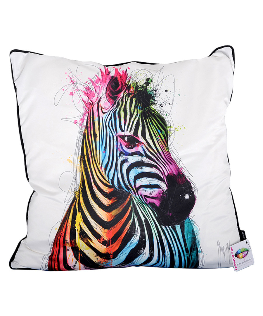 Zebra Pop cotton blend cushion 55cm Sale - 1Wall