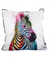 Zebra Pop cotton blend cushion 55cm Sale - 1Wall Sale