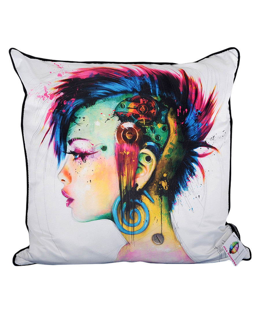 Cyber Punk cotton blend cushion 55cm Sale - 1Wall
