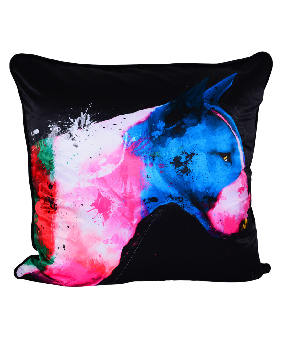 Bull Pop black cotton blend cushion 55cm Sale - 1Wall