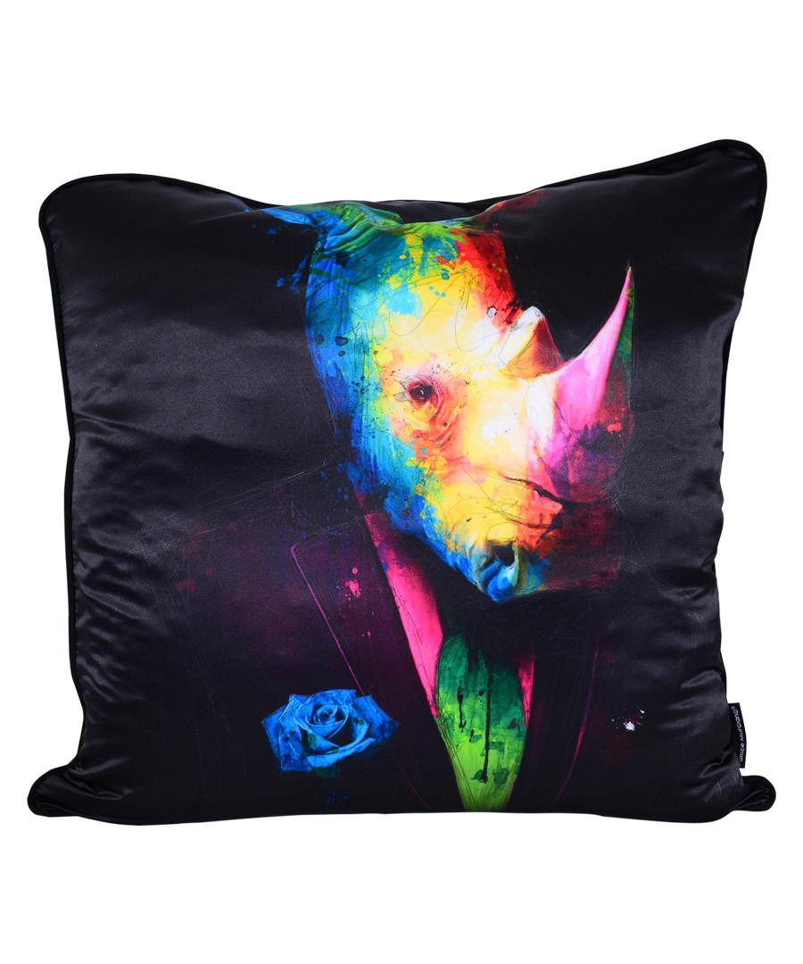 Rhino black cotton blend cushion 55cm Sale - 1Wall