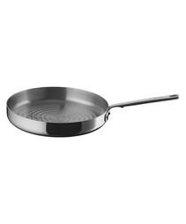 Silver-tone multi-ply clad grillpan 30cm