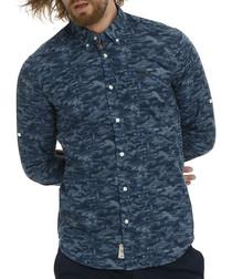 Amazing indigo pure cotton pattern shirt