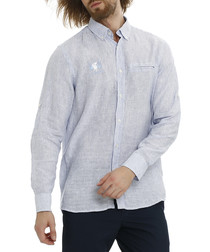 Edna blue bell pure linen striped shirt
